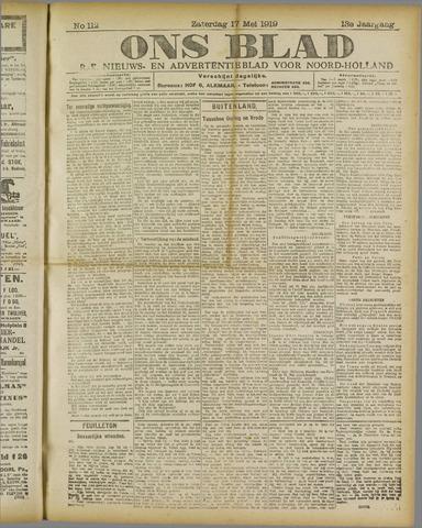 Ons Blad : katholiek nieuwsblad voor N-H 1919-05-17