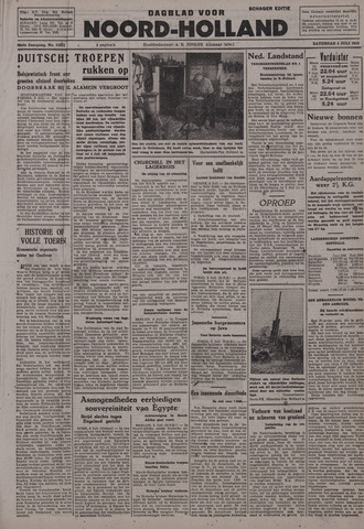 Dagblad Noord-Holland, Schager editie 1942-07-04