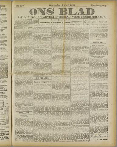 Ons Blad : katholiek nieuwsblad voor N-H 1919-06-04