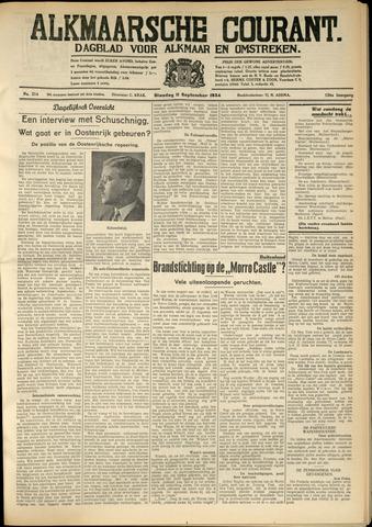 Alkmaarsche Courant 1934-09-11