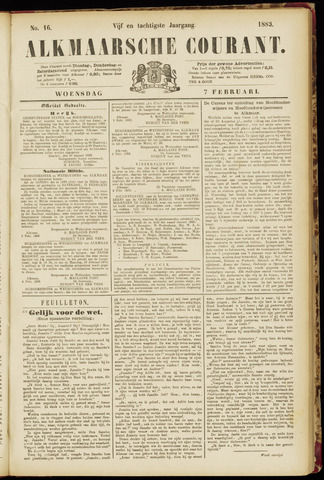 Alkmaarsche Courant 1883-02-07