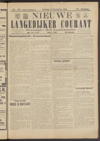 Nieuwe Langedijker Courant 1928-11-13