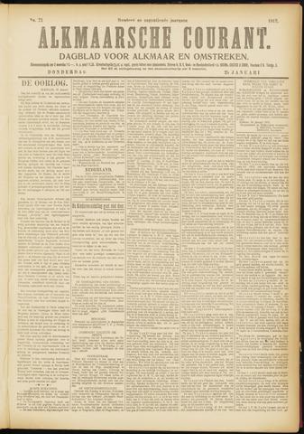 Alkmaarsche Courant 1917-01-25