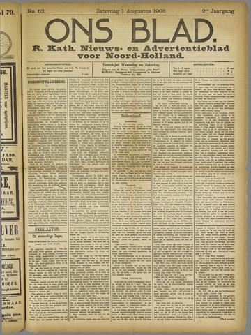 Ons Blad : katholiek nieuwsblad voor N-H 1908-08-01
