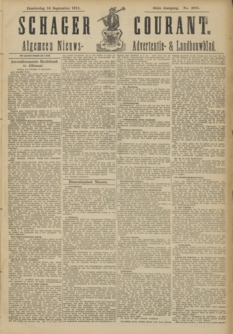 Schager Courant 1911-09-14