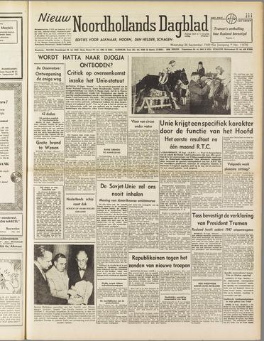 Nieuw Noordhollandsch Dagblad : voor Alkmaar en omgeving 1949-09-26