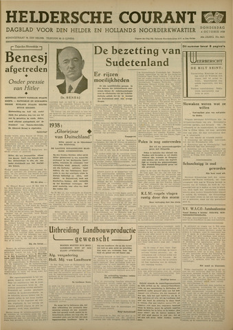 Heldersche Courant 1938-10-06
