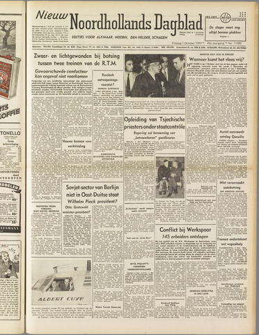 Nieuw Noordhollandsch Dagblad : voor Alkmaar en omgeving 1949-10-07