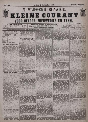Vliegend blaadje : nieuws- en advertentiebode voor Den Helder 1880-09-03