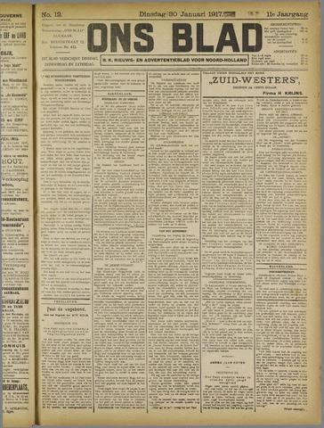 Ons Blad : katholiek nieuwsblad voor N-H 1917-01-30