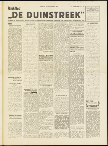 De Duinstreek 1954-11-19