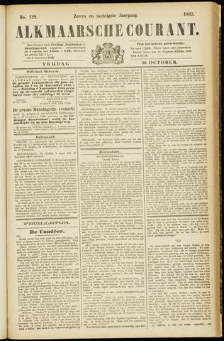 Alkmaarsche Courant 1885-10-30