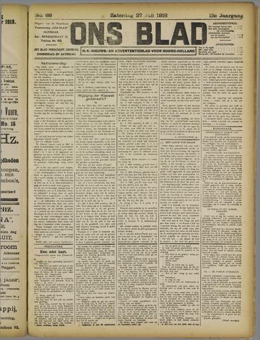 Ons Blad : katholiek nieuwsblad voor N-H 1918-07-27