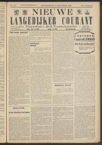 Nieuwe Langedijker Courant 1932-10-06