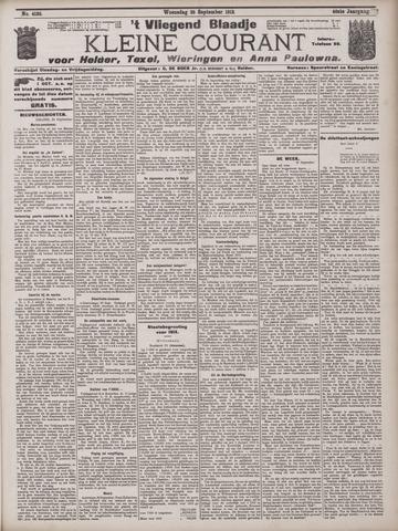 Vliegend blaadje : nieuws- en advertentiebode voor Den Helder 1912-09-25