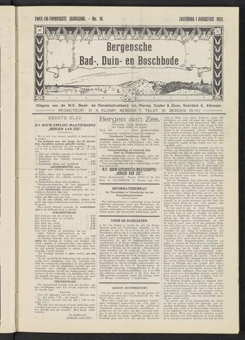 Bergensche bad-, duin- en boschbode 1931-08-01