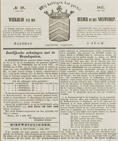 Weekblad van Den Helder en het Nieuwediep 1857-07-06