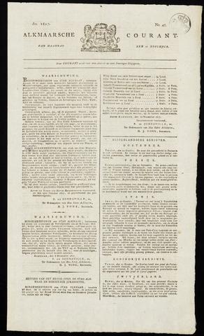 Alkmaarsche Courant 1817-11-10