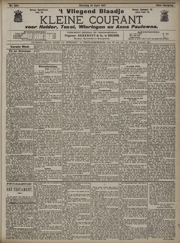 Vliegend blaadje : nieuws- en advertentiebode voor Den Helder 1907-04-20