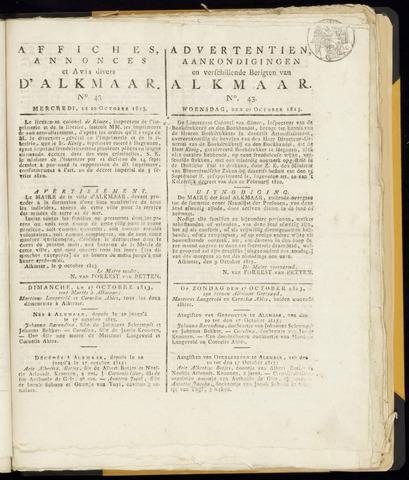 Alkmaarsche Courant 1813-10-20
