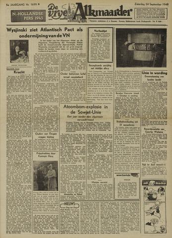 De Vrije Alkmaarder 1949-09-24