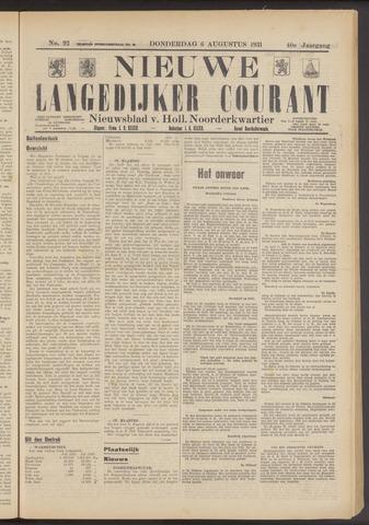 Nieuwe Langedijker Courant 1931-08-06