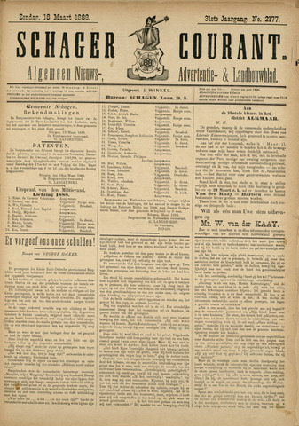 Schager Courant 1888-03-18