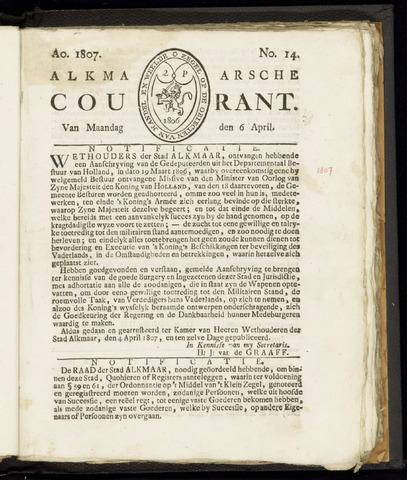 Alkmaarsche Courant 1807-04-06