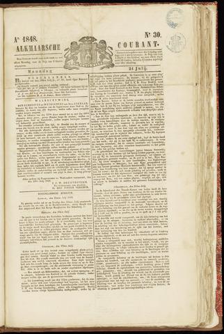 Alkmaarsche Courant 1848-07-24
