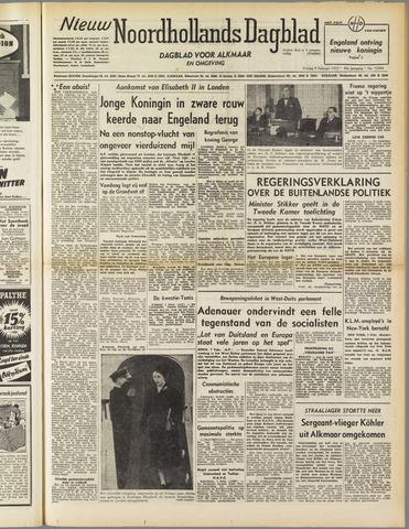 Nieuw Noordhollandsch Dagblad : voor Alkmaar en omgeving 1952-02-08