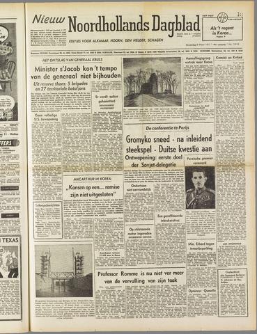 Nieuw Noordhollandsch Dagblad : voor Alkmaar en omgeving 1951-03-08