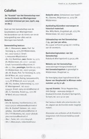 Kroniek Historisch Genootschap Wieringermeer 2008-08-01