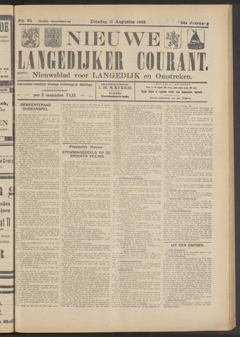 Nieuwe Langedijker Courant 1925-08-11