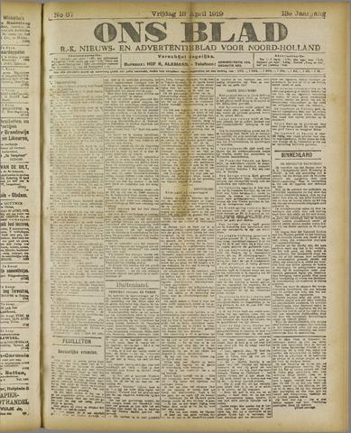 Ons Blad : katholiek nieuwsblad voor N-H 1919-04-18