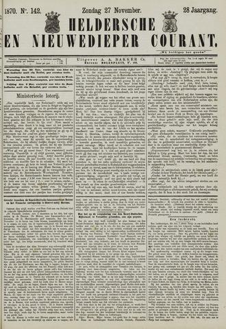 Heldersche en Nieuwedieper Courant 1870-11-27