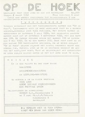 Op De Hoek, weekblad voor Akersloot 1962-03-02