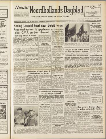 Nieuw Noordhollandsch Dagblad : voor Alkmaar en omgeving 1950-07-21