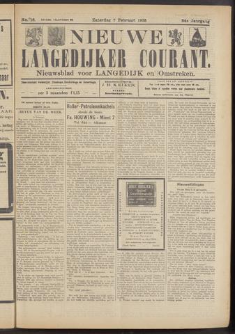 Nieuwe Langedijker Courant 1925-02-07