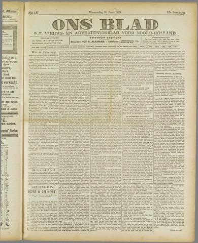 Ons Blad : katholiek nieuwsblad voor N-H 1920-06-16