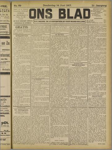 Ons Blad : katholiek nieuwsblad voor N-H 1917-06-14