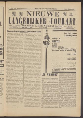 Nieuwe Langedijker Courant 1930-12-16