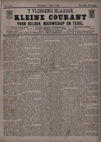 Vliegend blaadje : nieuws- en advertentiebode voor Den Helder 1884-03-05