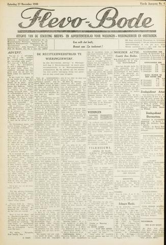 Flevo-bode: nieuwsblad voor Wieringen-Wieringermeer 1948-11-27