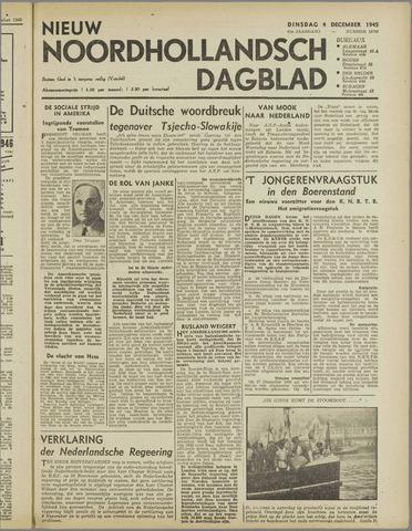 Nieuw Noordhollandsch Dagblad : voor Alkmaar en omgeving 1945-12-04