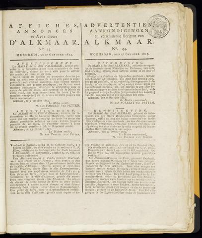Alkmaarsche Courant 1813-10-27
