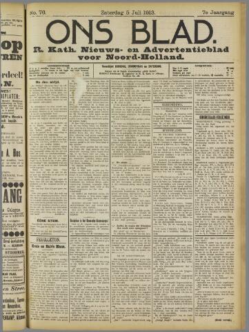 Ons Blad : katholiek nieuwsblad voor N-H 1913-07-05