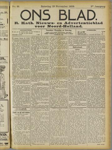 Ons Blad : katholiek nieuwsblad voor N-H 1909-11-13