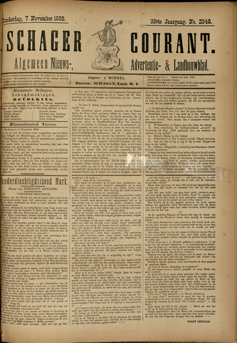 Schager Courant 1889-11-07