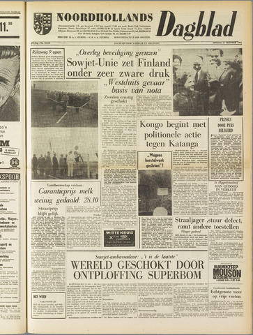 Noordhollands Dagblad : dagblad voor Alkmaar en omgeving 1961-10-31