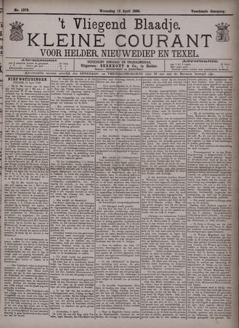 Vliegend blaadje : nieuws- en advertentiebode voor Den Helder 1886-04-14